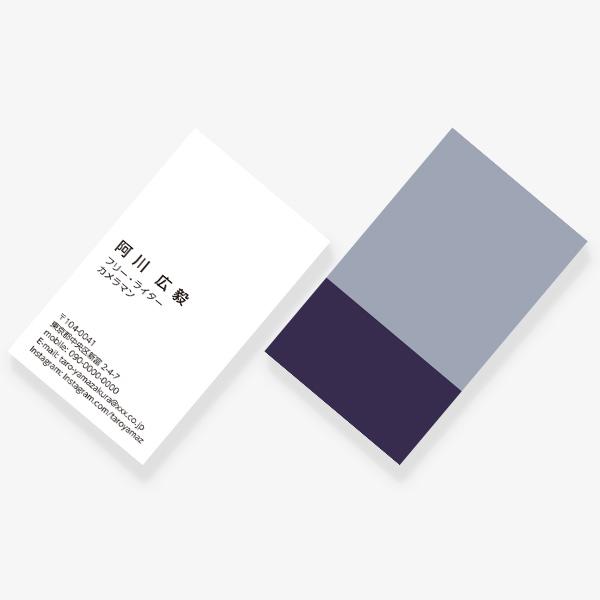 2TONE No.15 冬 GRIS BLEU×BLEU PAON JP 両面